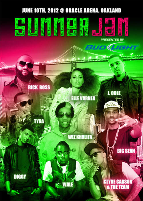 SF Bay Area: June 10th, Elle Varner will be performing at this year's 106KMEL Summer Jam!   For more info: http://www.kmel.com/pages/summer-jam-2012.html