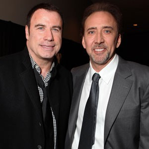 Nicolas Cage and his Face/Off co-star John Travolta. BUT WHICH IS WHICH???
