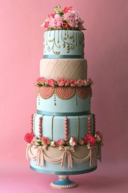 {pretty details} wedding cake