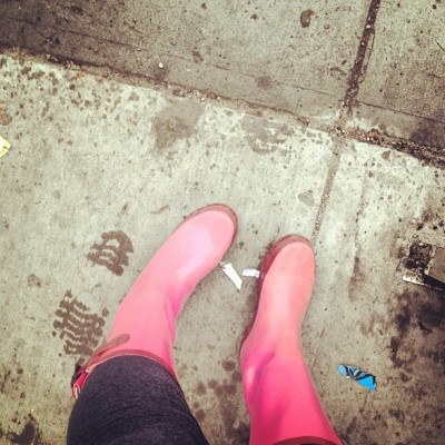 It's raining it's pouring…! #rain #boots #love  (Taken with instagram)