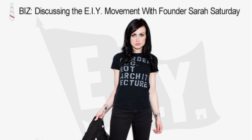"earnityourself:  Check out Indie Ambassador's interview with EIY founder Sarah Saturday! Excerpt:  Sarah Saturday is an accomplished musician, web designer, and Warped Tour veteran, but most notably she's the founder of the Earn It Yourself movement. As staunch believers in the DIY ethos, we've followed the evolution of EIY and were psyched to finally catch up with Sarah to talk about the project. Earn It Yourself, or EIY, is an ethical ideology used by Saturday in her work with alternative and DIY musicians throughout the country, to encourage these aspiring artists to develop communal roots and to ""do the right thing"" in regards to their motives and business practices. Since its inception in 2006, EIY has evolved from an online forum and resource to a full blown movement that includes workshops at Warped Tour and a number of local EIY chapters across the country. Find the interview with Sarah below that covers her background, the EIY spirit, its connection with Warped Tour and where Earn It Yourself is headed in 2012.  READ THE FULL INTERVIEW HERE"