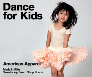 Dance for Kids by American Apparel.