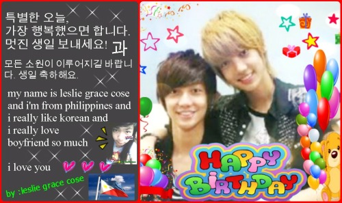 happy happy birthday *jo twins *   ♥ ♥ saranghae  ♥ ♥   ~~~> i'm from : philippines <~~~~     ♥ ♥  i really like and love boyfriend  ♥ ♥