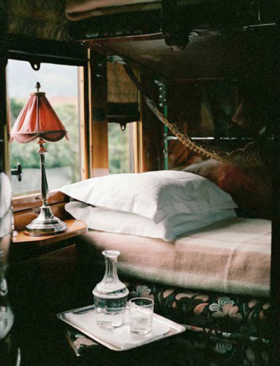 Stateroom on the Orient Express originally by howtodisappearcompletlyy