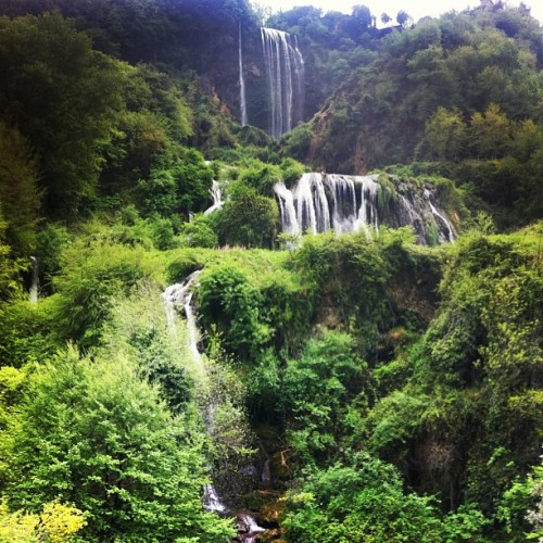 Marmots Waterfalls-the highest in Europe at 165m are in #Umbria @viadifrancesco #tbumbr (Taken with instagram)