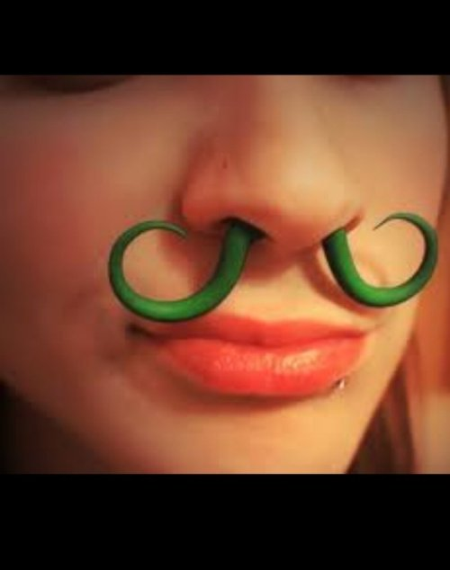 Mustache Septum Piercing   I want a girl with a mustache and a hole through her nose. [Like following us on Tumblr? Join the party on Facebook!]