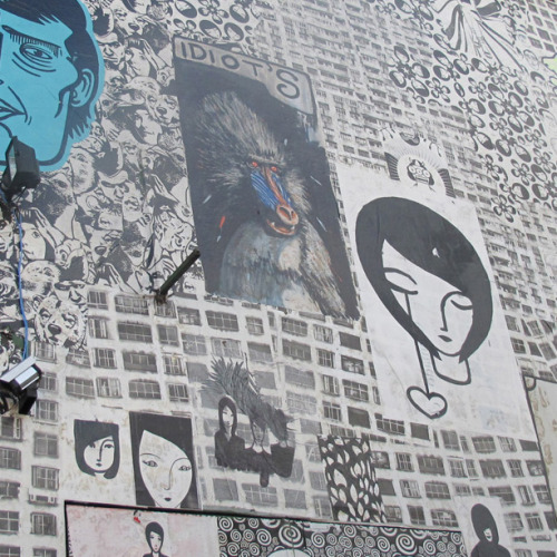 textbook:  Batman Alley, São Paulo, where street art and graffiti are completely encouraged.