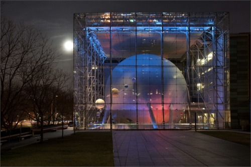 Rose Center for Earth and Space at night Photo by Rod