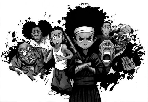 every black anime artist pays homage to the boondocks and to Aaron McGrudger