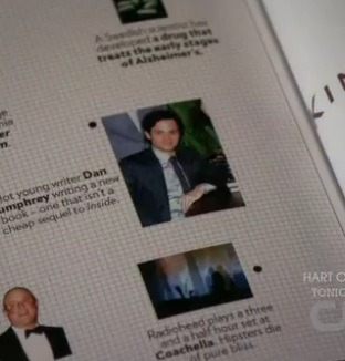 nowornever7:  Look who is below Dan in the 'High-Brow' section of the magazine. Radiohead! Dair are everywhere :)