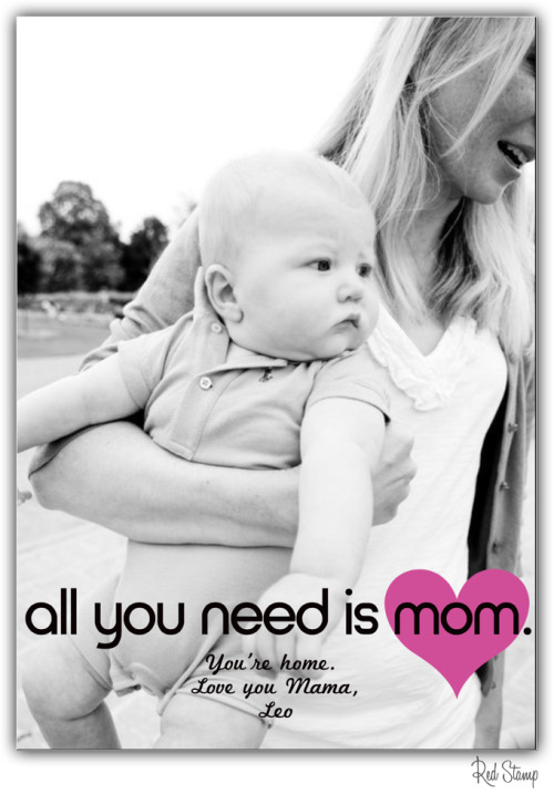 One of our most popular designs! Send a free digital Mother's Day card or surprise her with a printed paper postcard! All designs found in Red Stamp's free app.