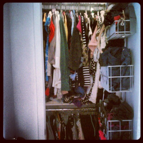One of my closets, finally back to normal post-baltimore! (Taken with instagram)