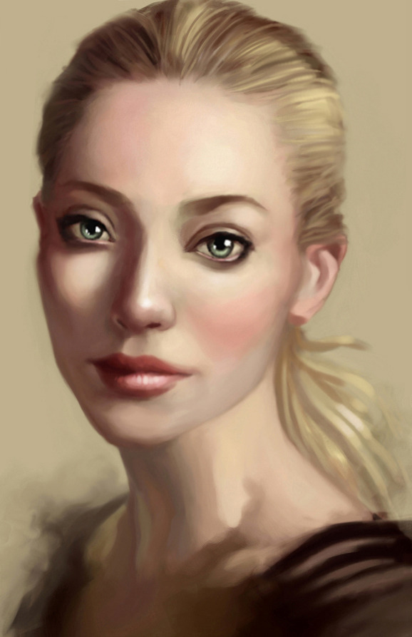 Digital portrait painting of Amanda Seyfried