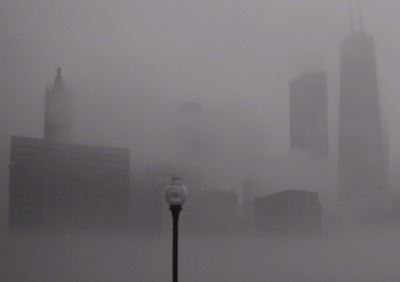 Morning Fog, Chicago, 2002, David Sky. I love the mood in this photo.