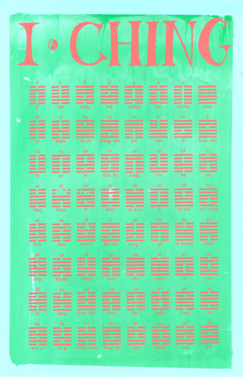 I CHING screenprint!!!!