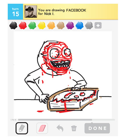 "LOLZZZ  oatmeal:  Playing ""Draw Something"" with my little brother last night"