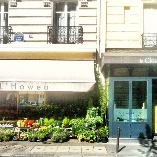 Flowers on Avenue Rapp #lastweek #pf_streetshots #paris  (Taken with instagram)