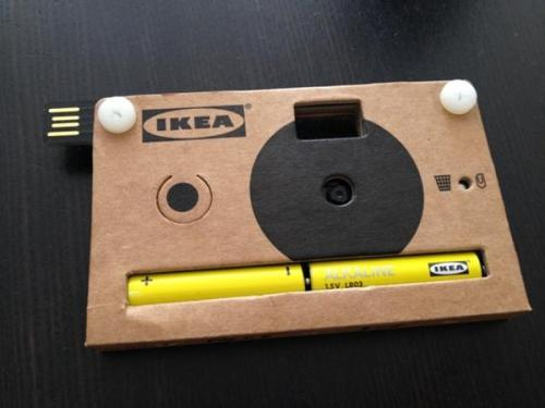 photojojo:  This cardboard camera really works! It can shoot 40 photos and comes with a USB cord. Ikea gave it away at a design expo in Milan, but there's a chance they'll be selling these in stores. Ikea's Cardboard Digital Cameras via Laughing Squid