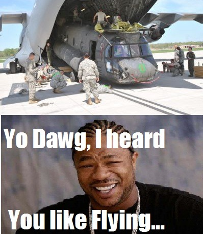 Yo Dawg, I heard you liked flying… The Meme Spot