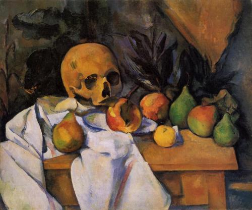 lexceptionfrancaise:  Paul Cezanne - Nature morte au crâne