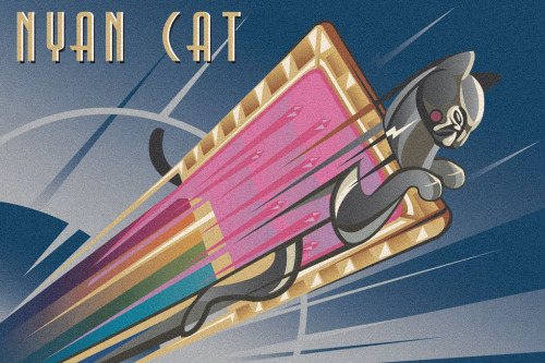 "nosmallvictories:  ""Nyan Deco"" by Samuel Ho for the upcoming Gallery 1988 Melrose ""Memes"" 8th year anniversary show opening May 4th, 2012. Facebook / Twitter"