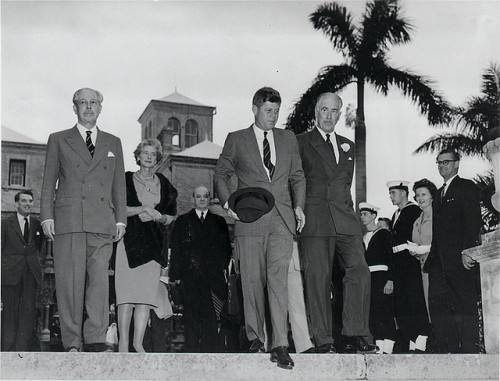 lbjlibrary:  December 1961. JFK visits Bermuda, and as on his visit to Texas, he refuses to put on a hat. Photo by UK National Archives via Flickr.