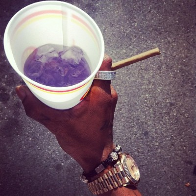 Kool aid and a swisher full of violet.