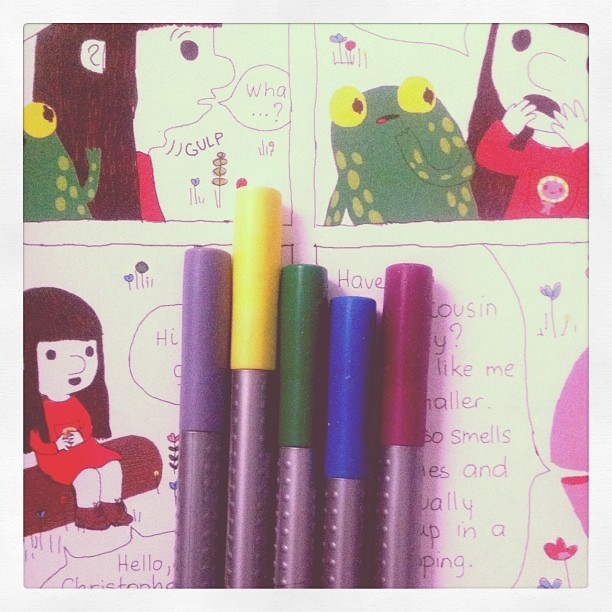 #color #pens #stationery #myroom  (Taken with instagram)