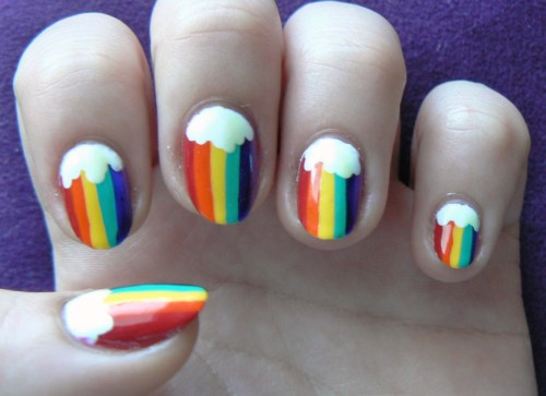 thenailadventure:  Rainbow Nails!