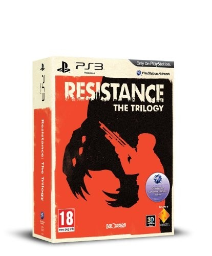 Here's the official box art for the upcoming Resistance: The Trilogy. The game will contain all three of the PS3 exclusive titles developed by Insomniac Games. It's a pretty cool bundle and will sport the orange Resistance 3 style art.