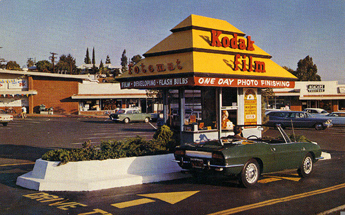 Kodak Fotomat, 1960's by Roadsidepictures on Flickr.