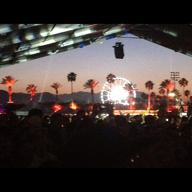 Last night at coachella #gotye #day3 #coachella #festival #ferriswheel  (Taken with Instagram at Coachella)
