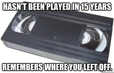 Oh good old VHS.