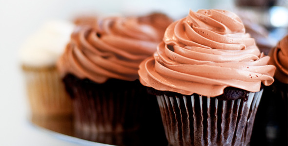 Nutella Cupcakes and Blood Orange Buttercream Recipe