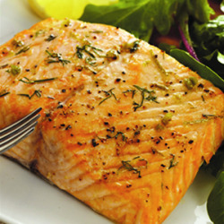 omg, salmon. iron + protein deliciousness