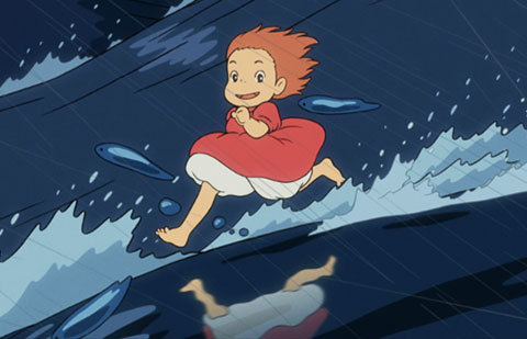 "Cinefamily's doing a Studio Ghibli retrospective next month. It's pretty much the only major studio animation worth watching. Here's my blurb for the incredible Ponyo, but the entire series is worth watching. One of cinema's most visually striking evocations of the ocean's ineffable, mercurial magic, Hiyao Miyazaki's final feature film is a boy-meets-goldfish tale whose charm is as vast as the sea itself. Gently exploring friendship and familial love, the story is as timeless as the Hans Christian Andersen ""Little Mermaid"" fable that inspired Miyazaki's script, yet Ponyo also deftly dives through contemporary themes — particularly humanity's strained relationship with nature. Both a triumphant return to tradition and an experimental leap forward, Miyazaki abandoned all computer animation for Ponyo's dramatic coastal landscapes and typically-bizarre characters, relying on hand-drawn lines and watercolored textures that are unmatched in their warmth, fluidity, and inventiveness. The director even reportedly drew much of the film's many waves himself to ensure their texture and movement was just right. Whether you're an animation connoisseur or a casual cartoon watcher, that kind of big-heartedness shines through in every frame. Our screening of Ponyo is presented with an English-dubbed audio track. http://www.cinefamily.org/films/studio-ghibli/#ponyo"