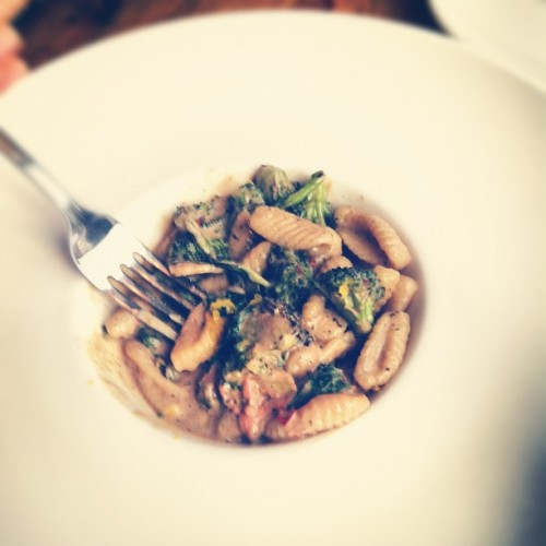 Cavatelli, chicken liver, broccoli, chili flakes & mint. (Taken with Instagram at Thirty Acres Restaurant)