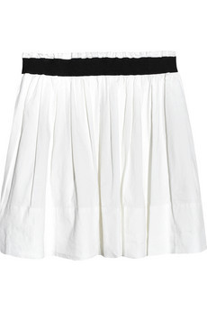Theory pilado linen blend mini skirt