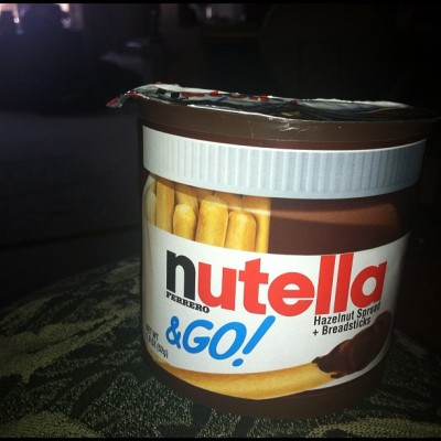 Nutella & Go!!!! #nutella #nutellaandgo#snack#hazelnut#chocolate#yum#nomnom#food#foodporn#orgasmic#ilovechocolate (Taken with instagram)