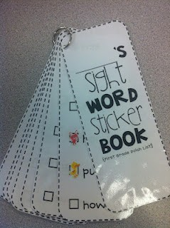 classroomcollective:  Sight Word Sticker Books — Students receive a sticker when they master a sight word!