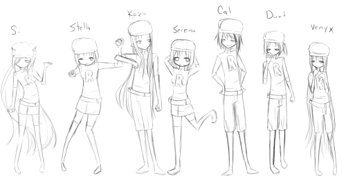 Second batch (not Bath. Shut up Amanda) I really messed up Cal u__u I think this will be all for now… Gonna line and color now ;o; Ignore horrible sizes Bigger version: http://i48.tinypic.com/99piis.png