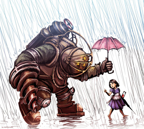 insanelygaming:  Big Daddy in the Rain  Created by Max Kennedy
