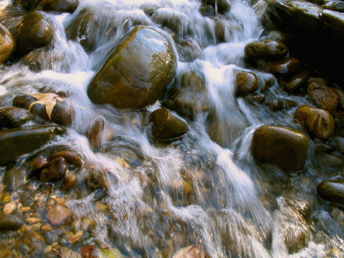 water flows freely, smoothing rocks in it's path without getting stuck or caught up. let your life flow like water and smooth the rocks.