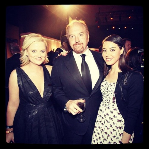 fearinthesky:  Amy Poehler, Louis C.K. and Aubrey Plaza - Time 100