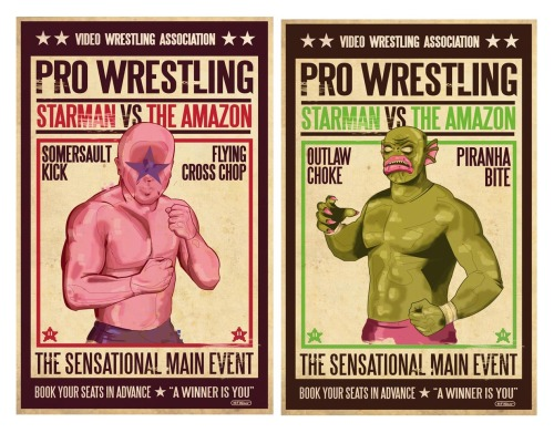 Kick-ass Nintendo Pro Wrestling art! via themarkgodby: