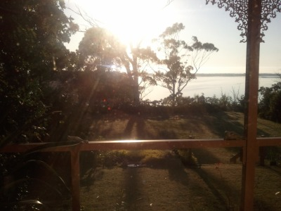 Waking up on Australia Day to this amazing view at the place we stayed in Lake's Entrance. Many a picnic was had on that lawn.