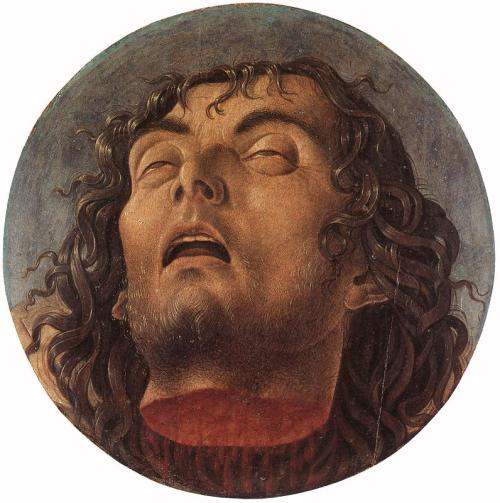 cavetocanvas:  Giovanni Bellini, Head of a Baptist, 1464-68
