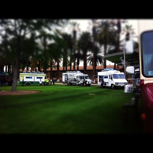 Lancer Cup pre-party. Food trucks!!  (Taken with instagram)