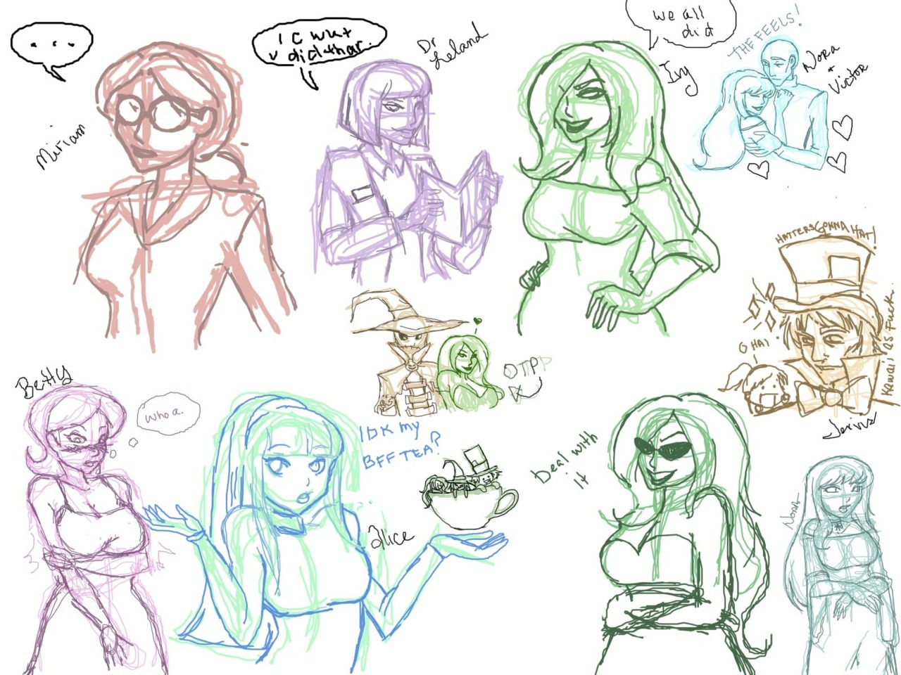 ((Not sure why it saved backwards. FIXED. My livestream sketches!))