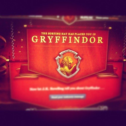It's official. Pottermore told me. Pottermore never lies.  (Taken with instagram)